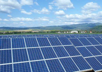 Fotovoltaická elektráreň Vígľaš 2 prevádzkovaná s využitím služieb spoločností HTEnergy a HTMAS.